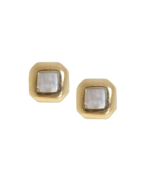 36b4ca24e2e8 Vista Rápida. Broqueles de oro 14 k Roca madre perla