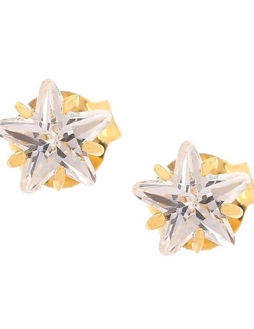 34a0248dec93 Broqueles de oro 14 k Roca zirconia