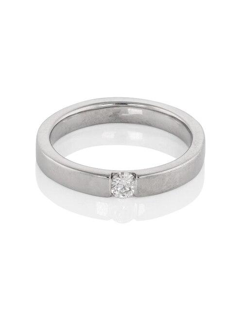 3c6832005a3d Anillo de compromiso oro blanco 14 k Amore Mio diamante