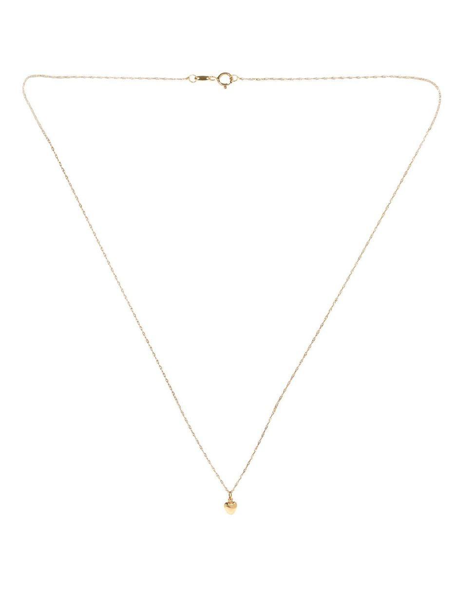 095576f9f7c0 Collar de oro 14 k Casal corazón Precio Sugerido