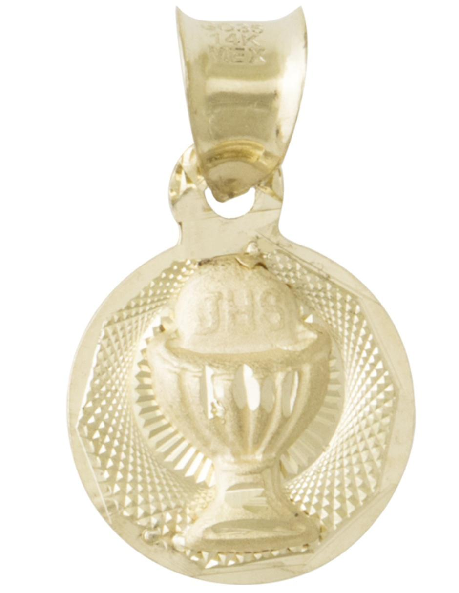 23a1240355cb Medalla unisex Sini Joyas de oro 14 k