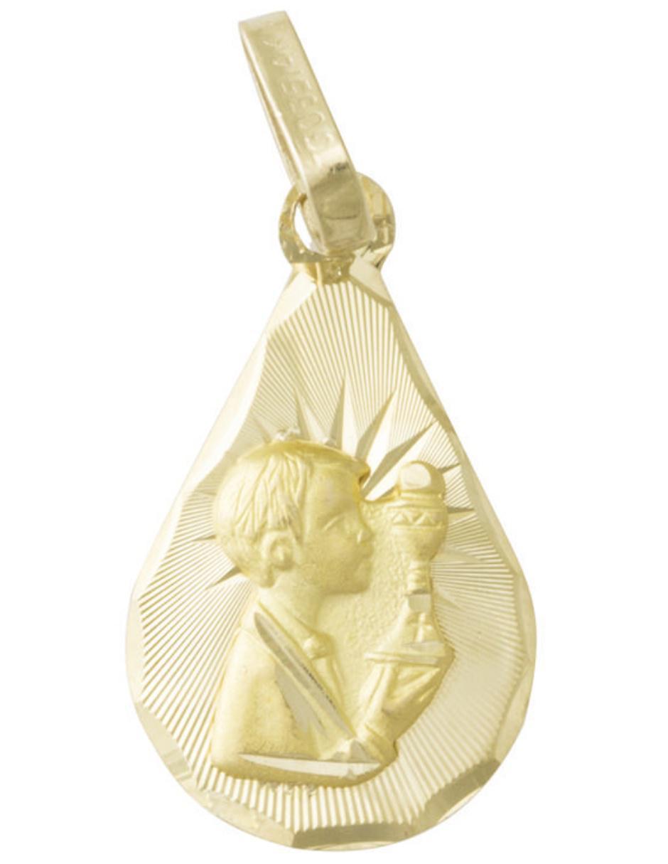 04386542185d Medalla para niño Sini Joyas de oro 14 k