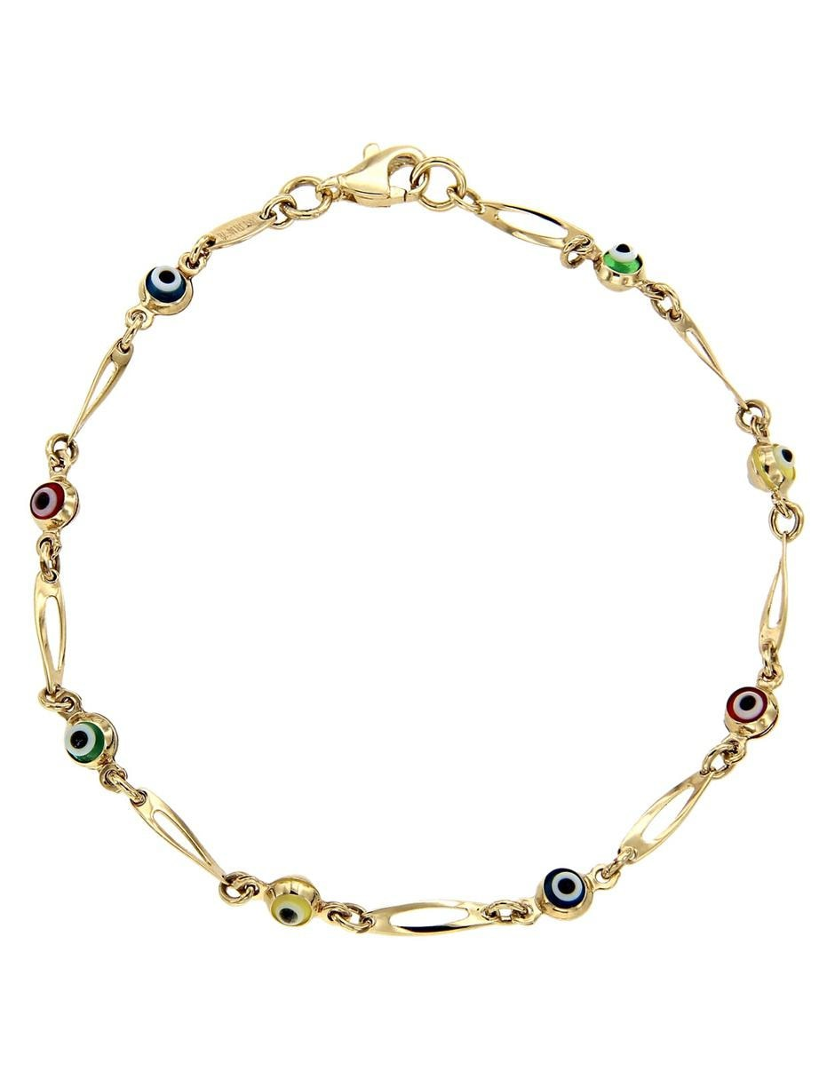 comprar popular c8656 c8c63 Pulsera de oro 14 k Dinasti ojo turco en Liverpool