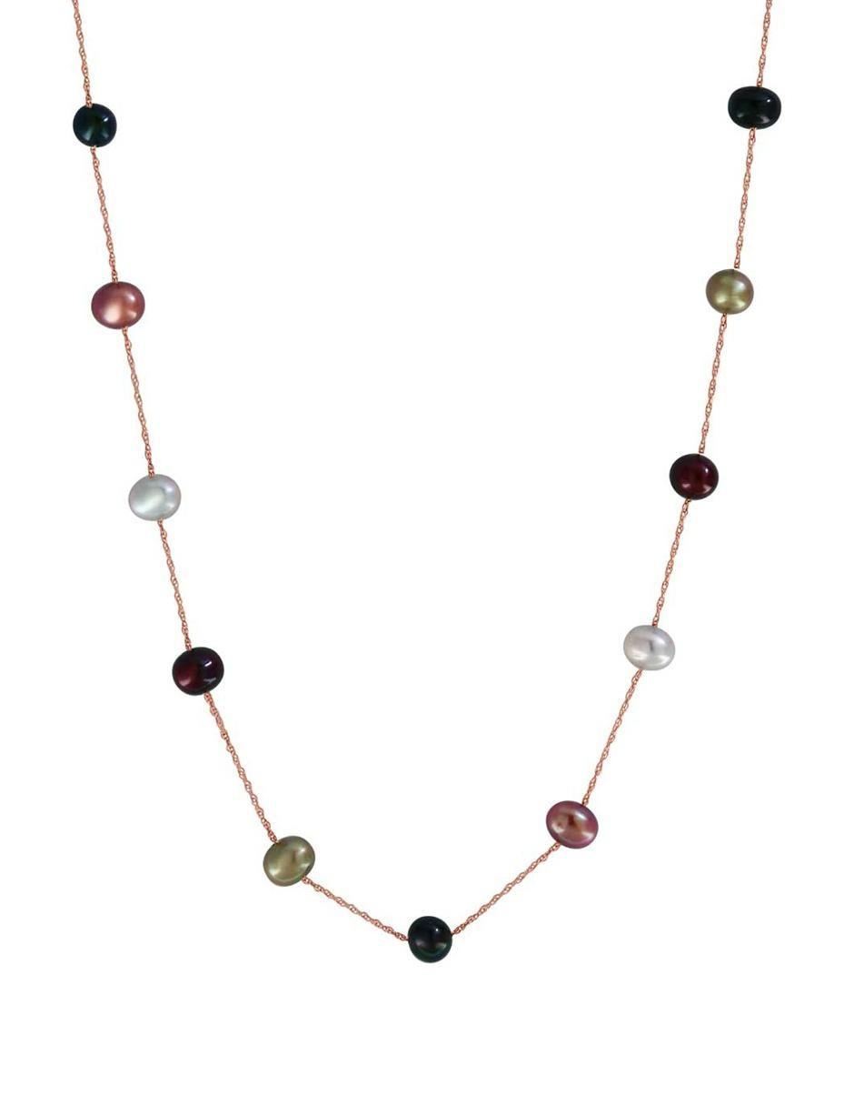47c33ed42e70 Collar de oro 14 k Effy perla