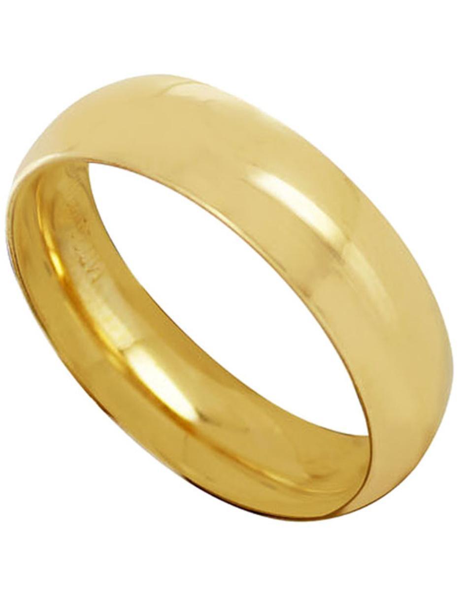 3da19861cde4 Argolla de oro 14 k D Cadena Confort pulido