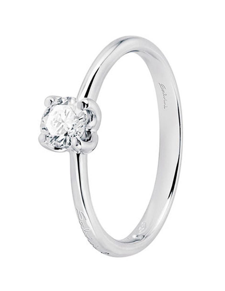 5881efe02dcd Salvini Anillo Solitario Eleonor Oro Blanco 18 k con Diamante.  22